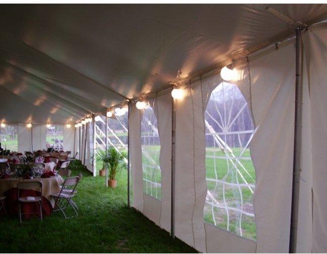 globe tent lighting