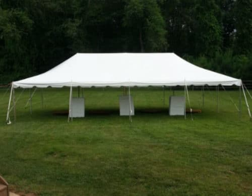 20 x 40 Pole Tent & Tent Rental Westminster MD | Wedding Tents For Rent - Dreamers ...