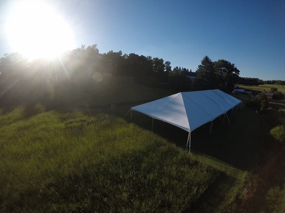 40 x 100 frame tent