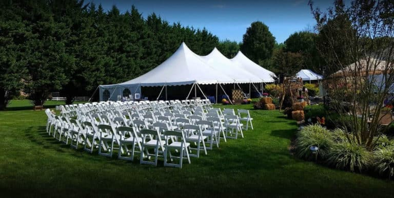Ideas For An Outdoor Tent Ceremony