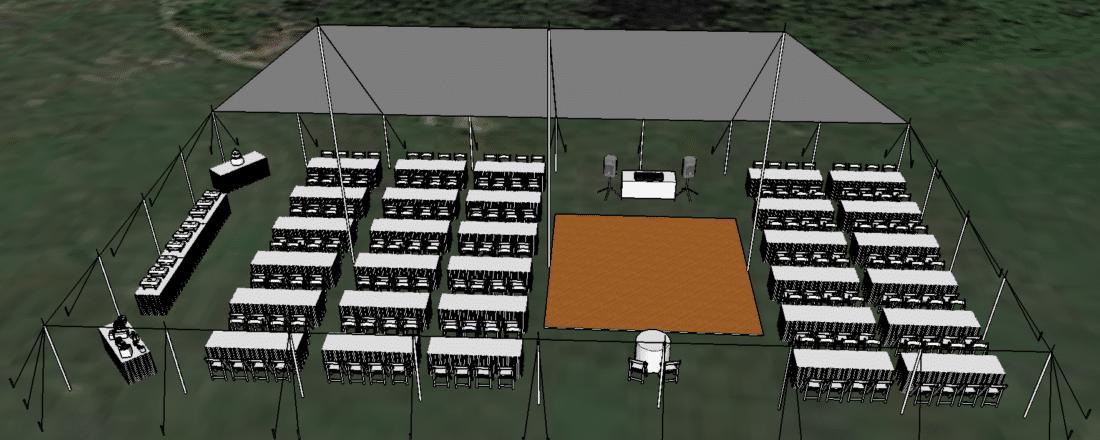3D Tent Drawing