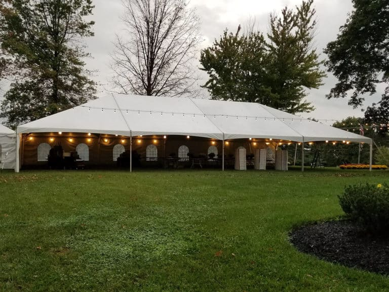 Frame Tent Rental For a Fall Wedding Reception