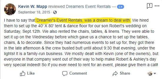 Tent Rentals Baltimore Maryland Dreamers Event Rentals