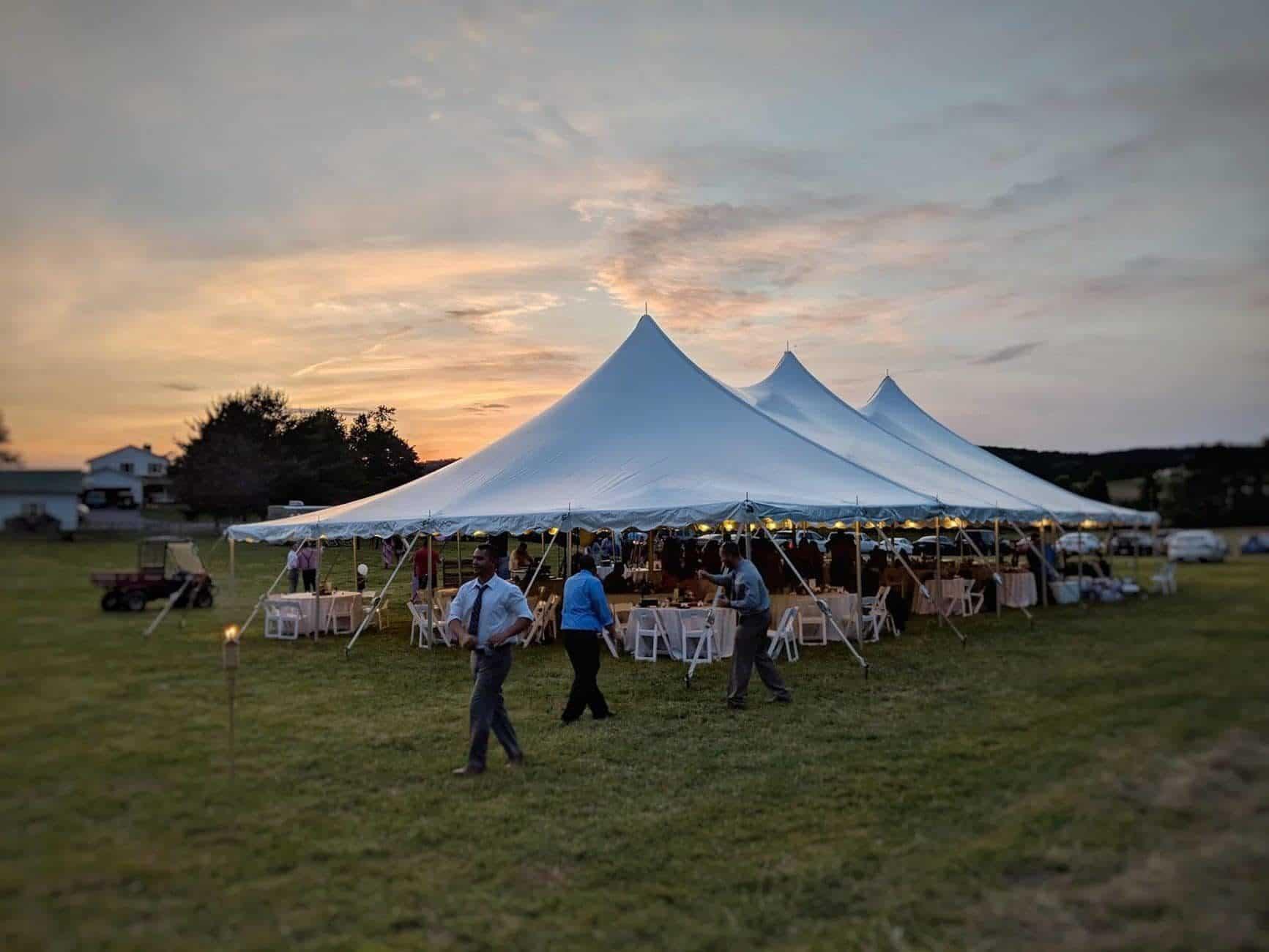 Backyard Tent Reception In Hampstead Maryland