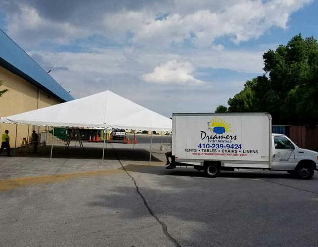 40 x 40 Frame Tent For A Corporate Event In Baltimore Maryland