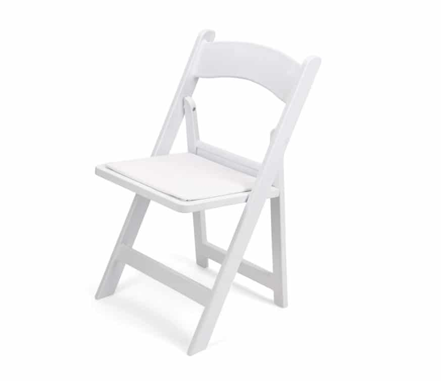 White Resin Chair Rentals